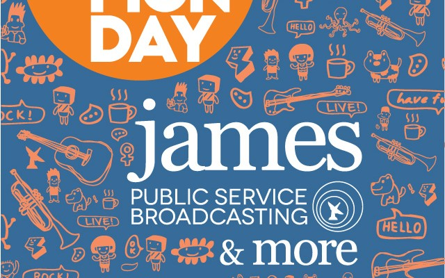 Poster Lazy Monday 2016 - James & Public Service Broadcasting