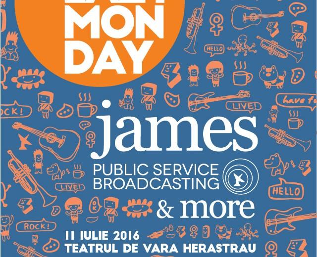 Poster Lazy Monday 2016 - James & Public Service Broadcasting